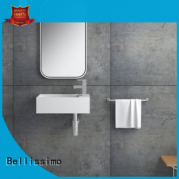 Bellissimo stainless steel trough sink with towel shelf for home