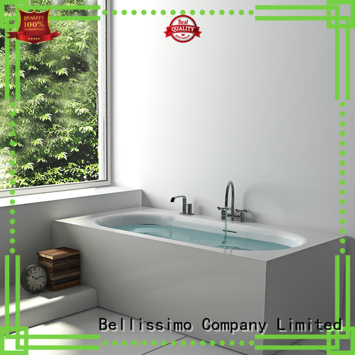 Hot solid surface bathtub solid Bellissimo Brand