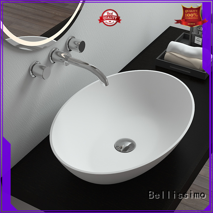 bs8344 countertop basin square sink Bellissimo Brand