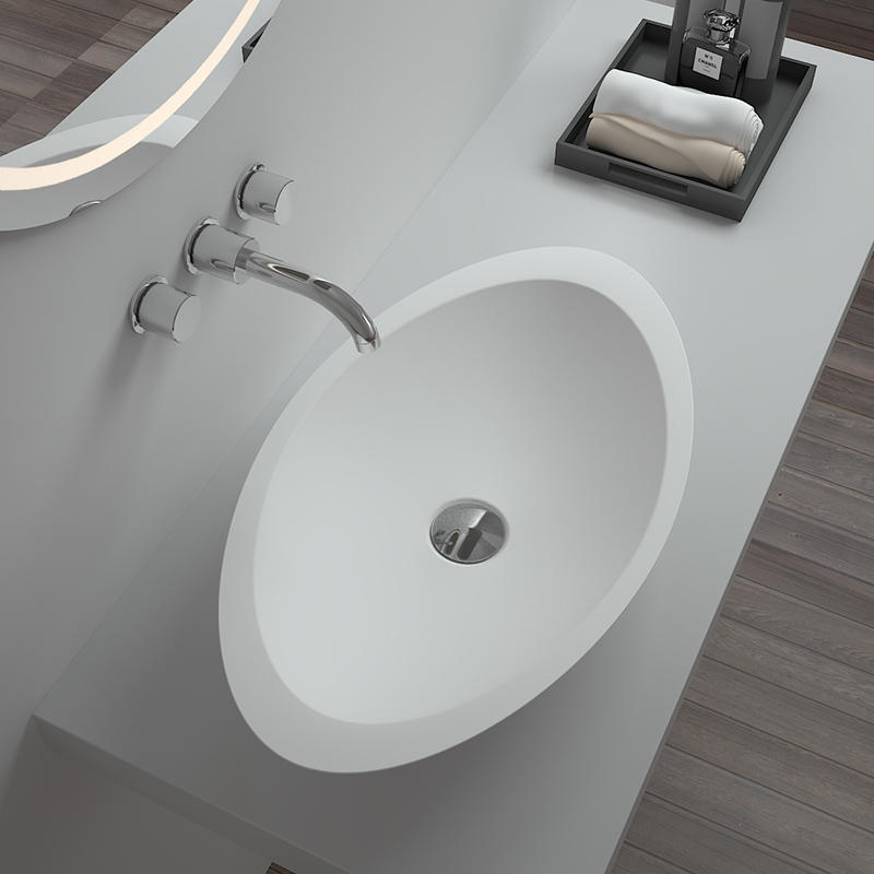 Bellissimo-Solid Surface Resin Stone Counter Top Basin Bs-8314 - Bellissimo Company Limited
